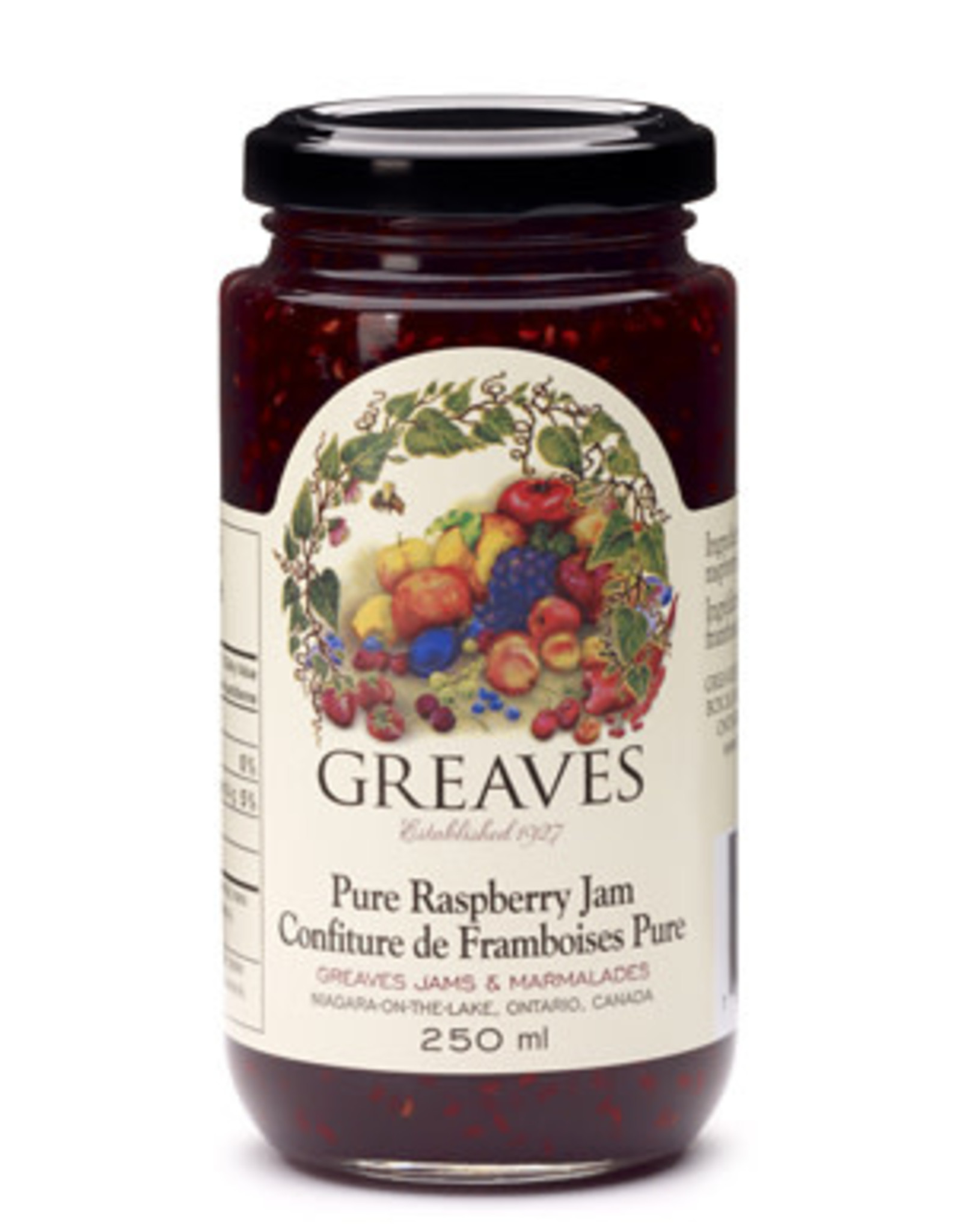 Greaves Jams & Marmalades Ltd. Greaves, Raspberry Jam, 250ml