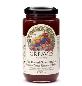 Greaves Jams & Marmalades Ltd. Greaves, Rhubarb Strawberry Jam, 250ml