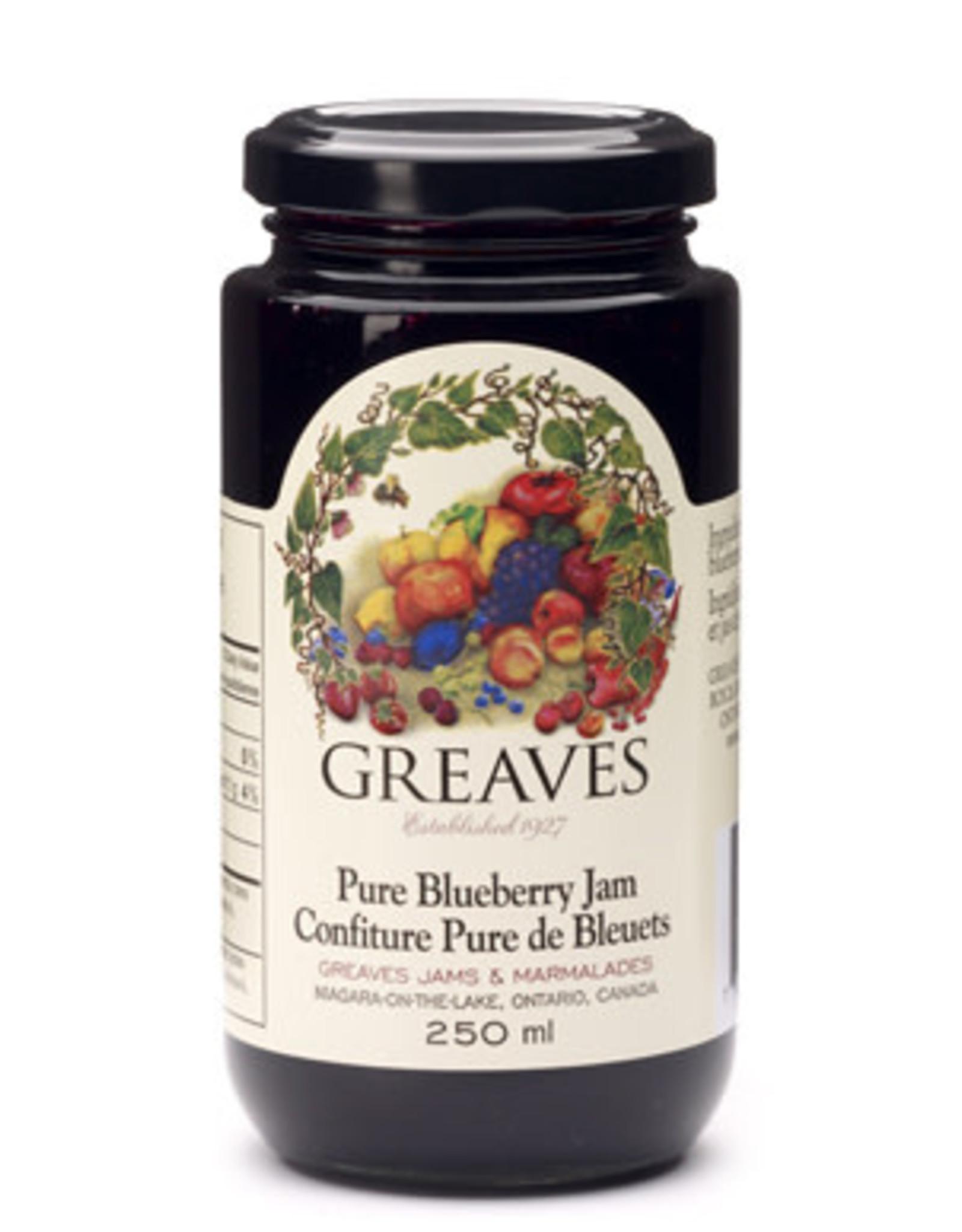 Greaves Jams & Marmalades Ltd. Greaves, Blueberry Jam, 250ml