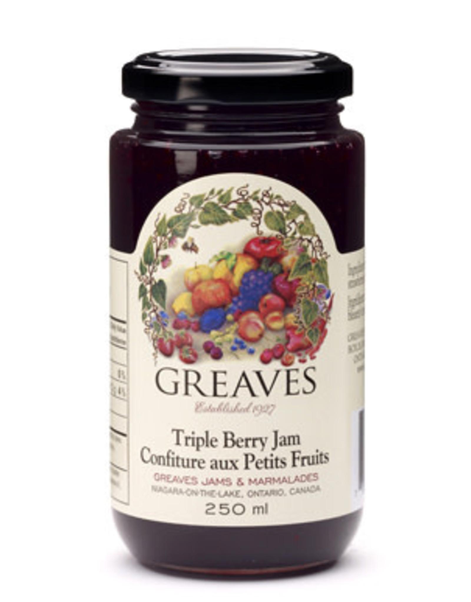 Greaves Jams & Marmalades Ltd. Greaves, Triple Berry Jam, 250ml