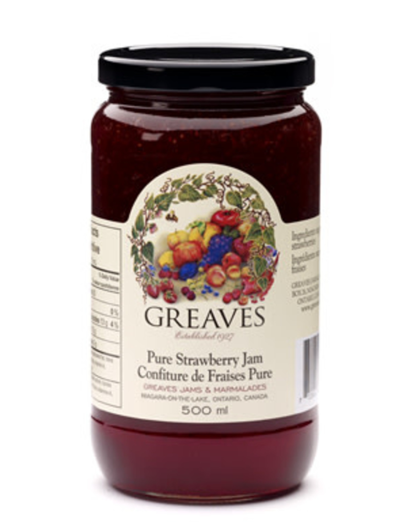 Greaves Jams & Marmalades Ltd. Greaves, Strawberry Jam, 500ml