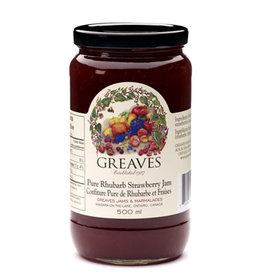 Greaves Jams & Marmalades Ltd. Greaves, Rhubarb Strawberry Jam, 500ml