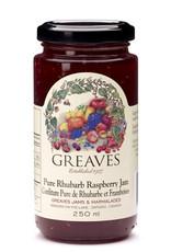 Greaves Jams & Marmalades Ltd. Greaves, Rhubarb Raspberry Jam, 250ml