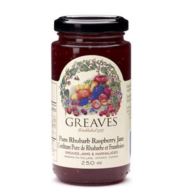 Greaves Jams & Marmalades Ltd. Greaves, Rhubarb Raspberry Jam, 250ml