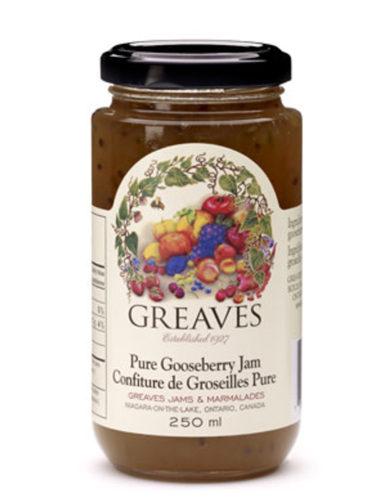Greaves Jams & Marmalades Ltd. Greaves, Gooseberry Jam, 250ml