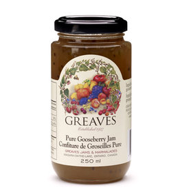 Greaves Jams & Marmalades Ltd. Greaves, Gooseberry Jam, 250ml