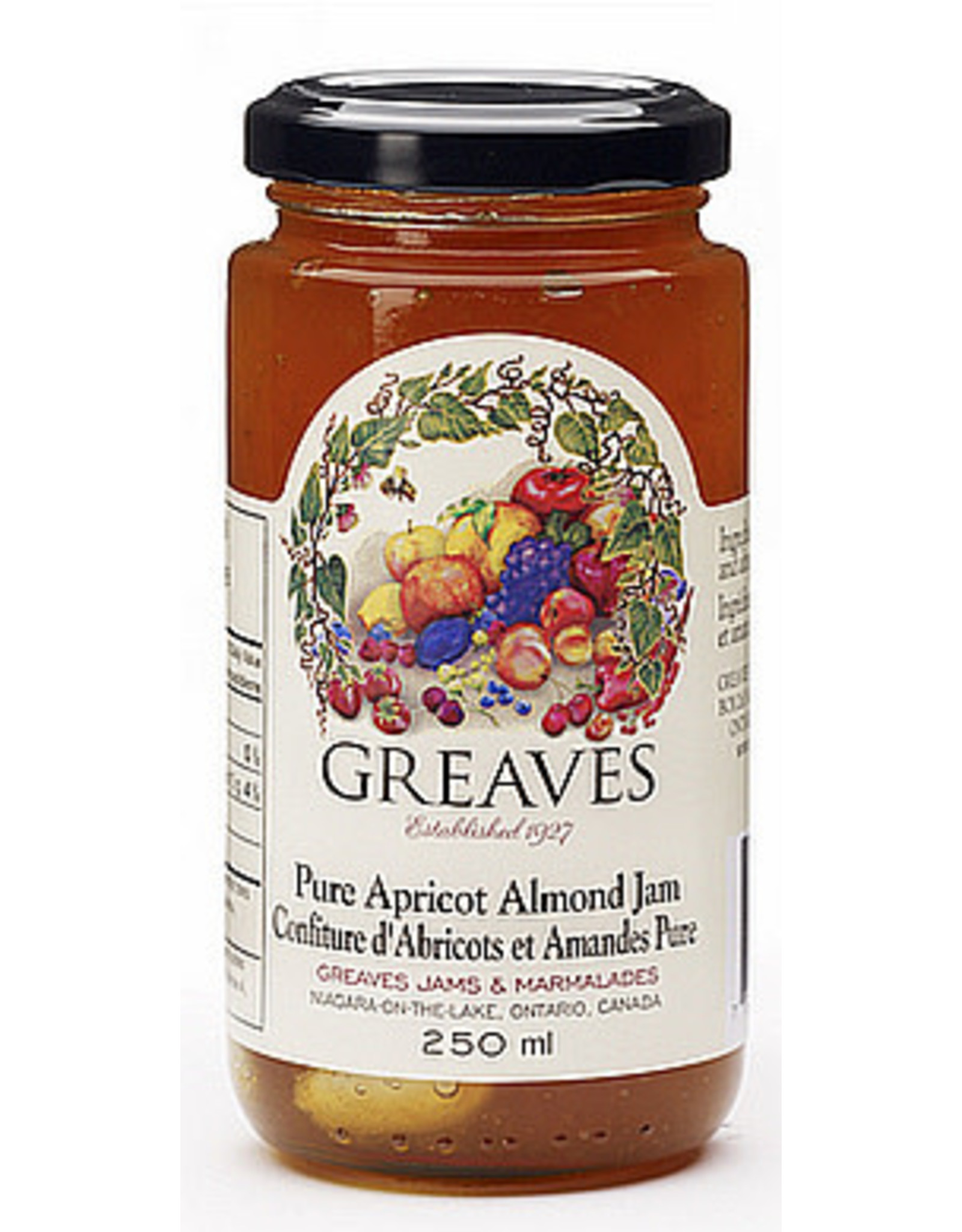 Greaves Jams & Marmalades Ltd. Greaves, Apricot Almond Jam, 250ml