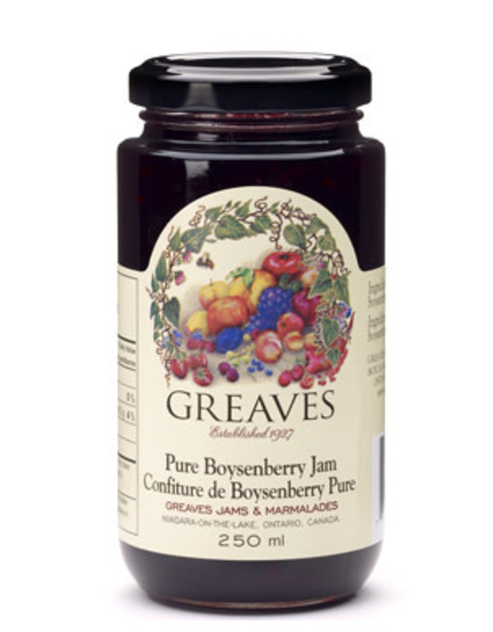 Greaves Jams & Marmalades Ltd. Greaves, Boysenberry Jam, 250ml