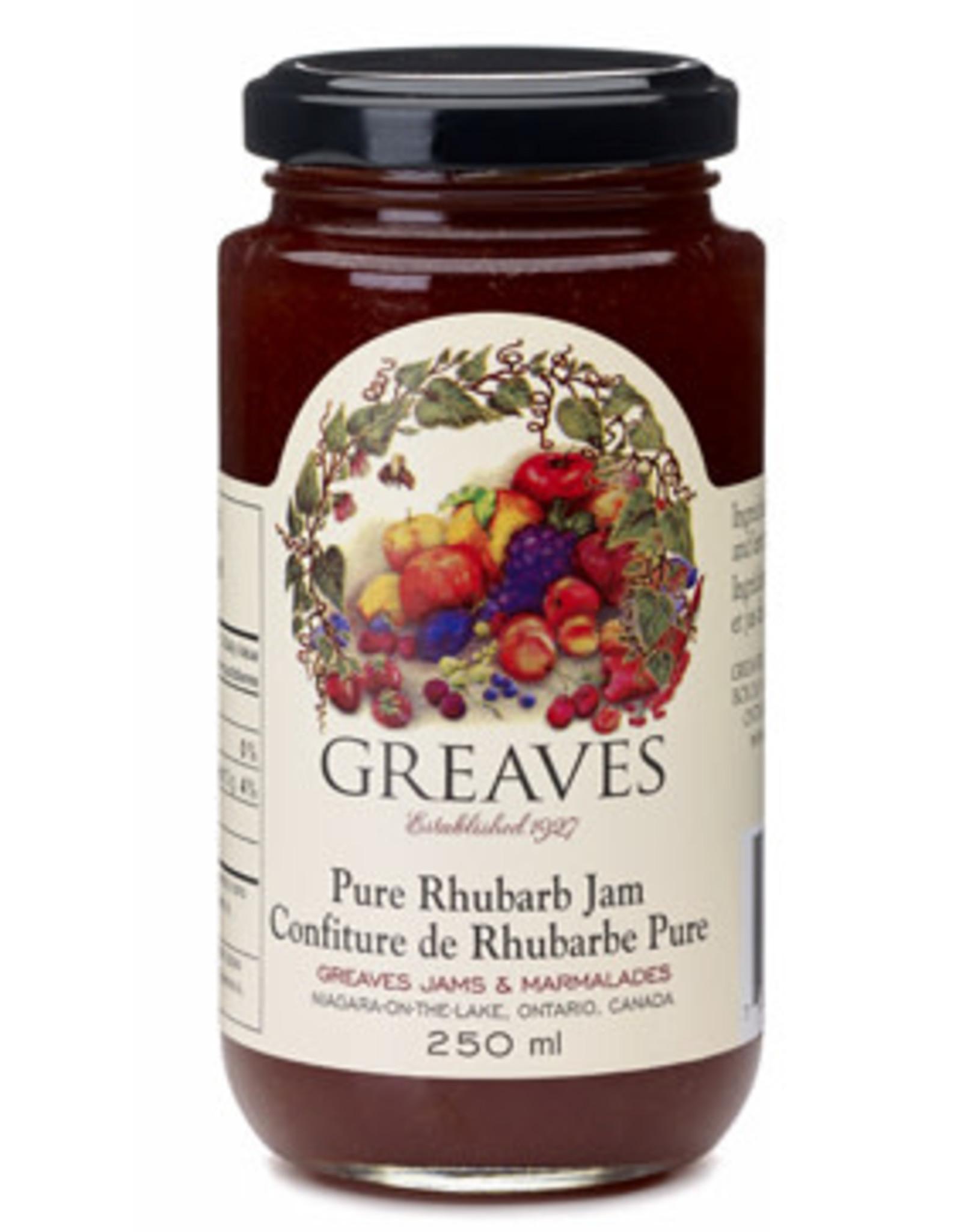 Greaves Jams & Marmalades Ltd. Greaves, Rhubarb Jam, 250ml