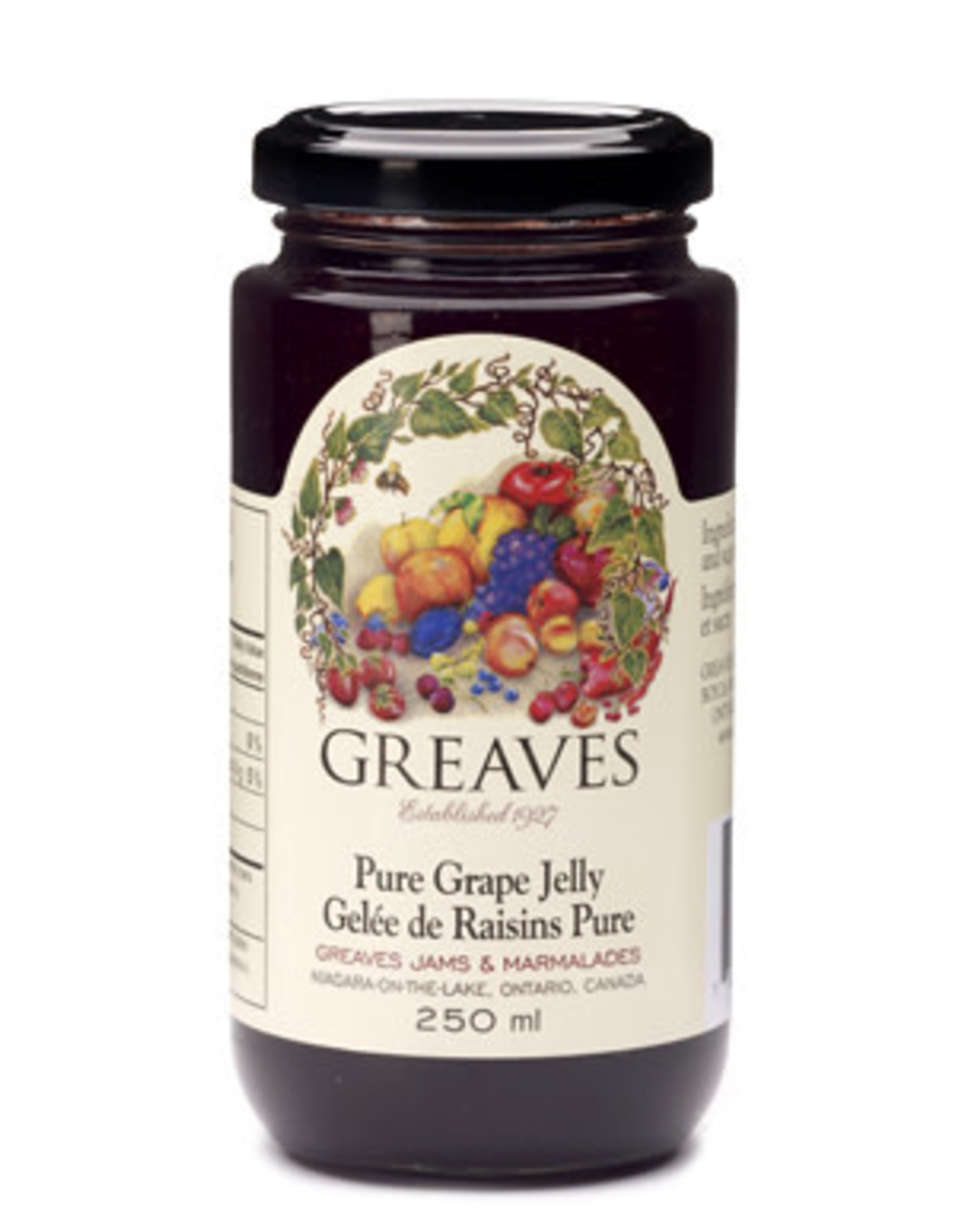 Greaves Jams & Marmalades Ltd. Greaves, Grape Jelly, 250ml