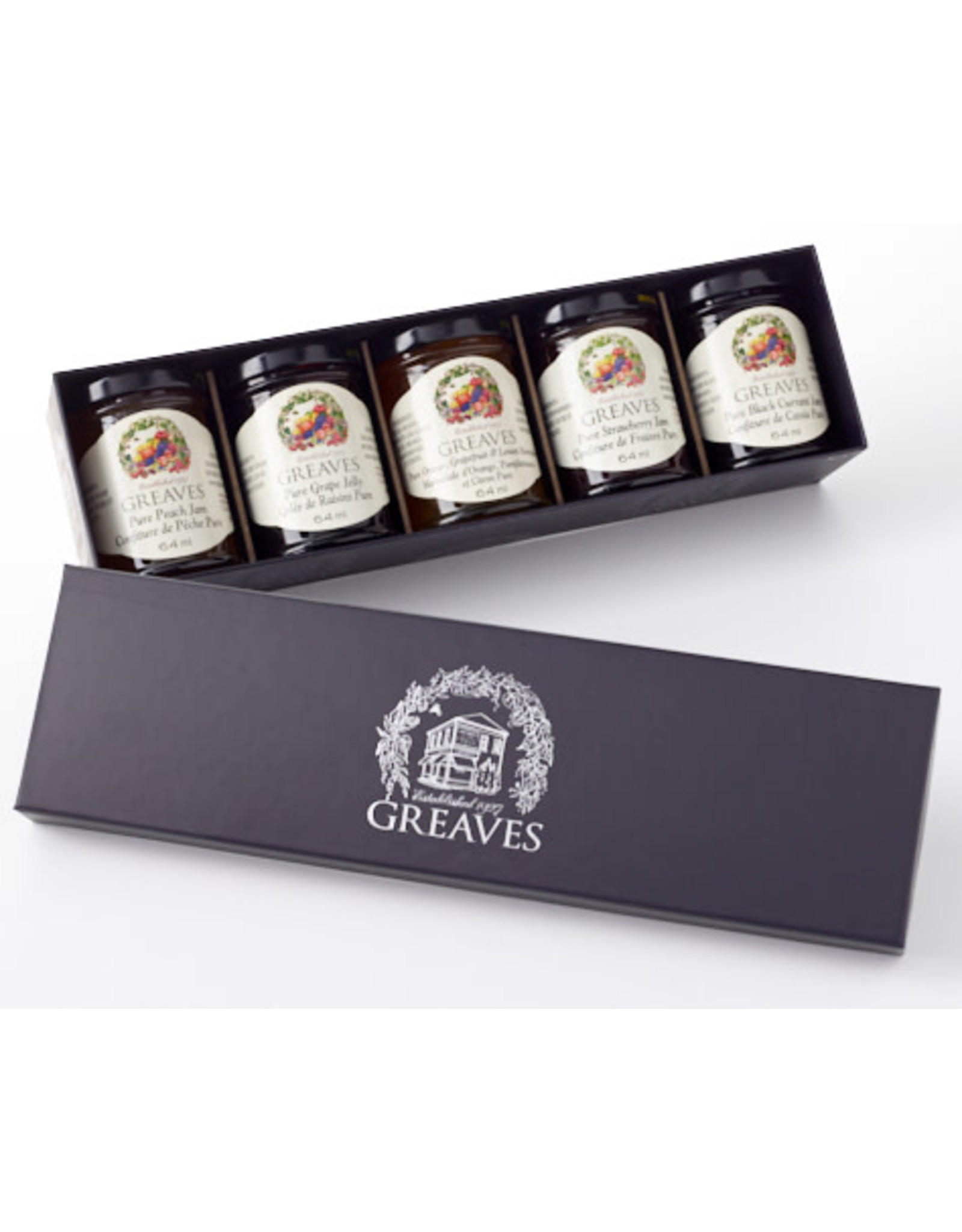 Greaves Jams & Marmalades Ltd. Greaves, Royal Purple Gift Box, 5 x 64ml