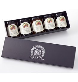 Greaves Jams & Marmalades Ltd. Greaves, Royal Purple Gift Box, 5 x 64ml