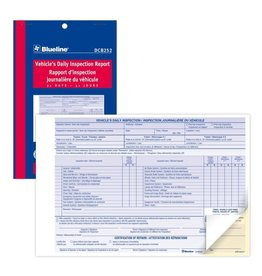 Dominion Blueline Inc. LOG BOOK-VEHICLE'S DAILY INSPECTION  5-3/8X8, 31 DUPLICATE