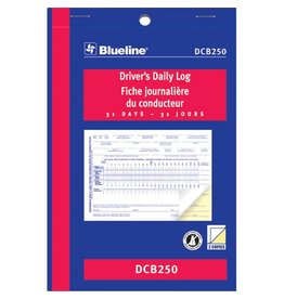 Dominion Blueline Inc. LOG BOOK-DRIVERS DAILY 5-3/8X8, 31 DUPLICATE BILINGUAL