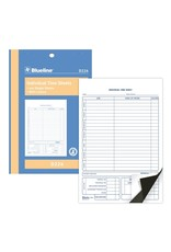 Blueline FORMS-TIME SHEET, INDIVIDUAL 1-PART ENGLISH