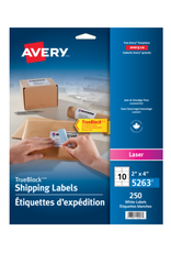 Avery LABELS-SHIPPING TRUEBLOCK WHITE 2X4 250/EV