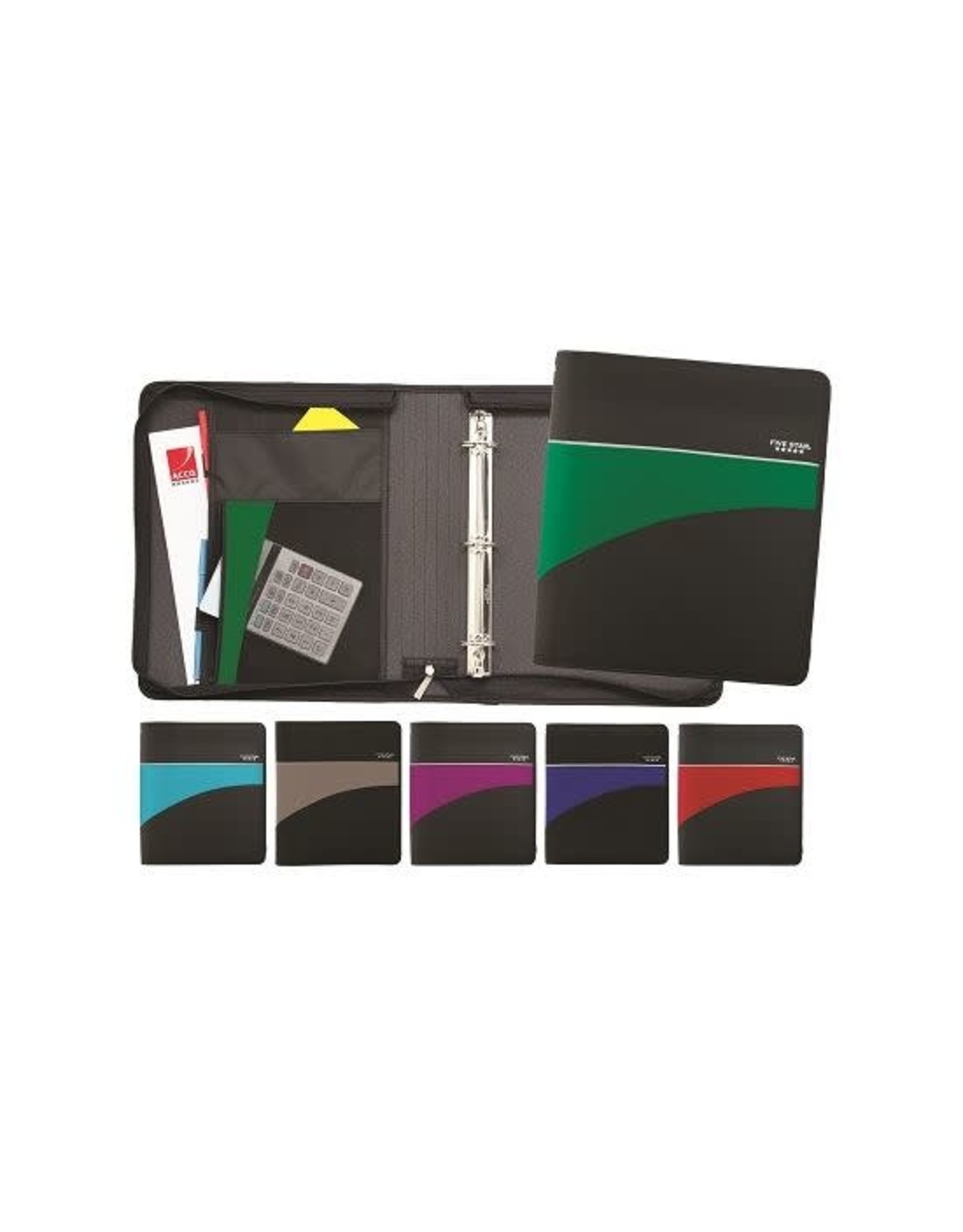 Hilroy BINDER-ZIPPERED, FIVE STAR 2'',  ASSORTED COLOURS