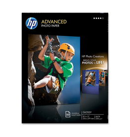 HP PAPER-HP ADVANCED GLOSSY PHOTO, 8.5X11 66LB. 50/PACK
