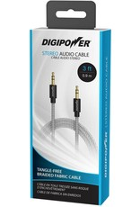 Digipower Digipower Auxillary Stereo 3ft Cable Braided  SKU:39842
