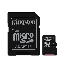 Kingston Technology SD Card - Kingston 128GB Canvas Select Plus MICROSDXC 100R A1 C10 Card