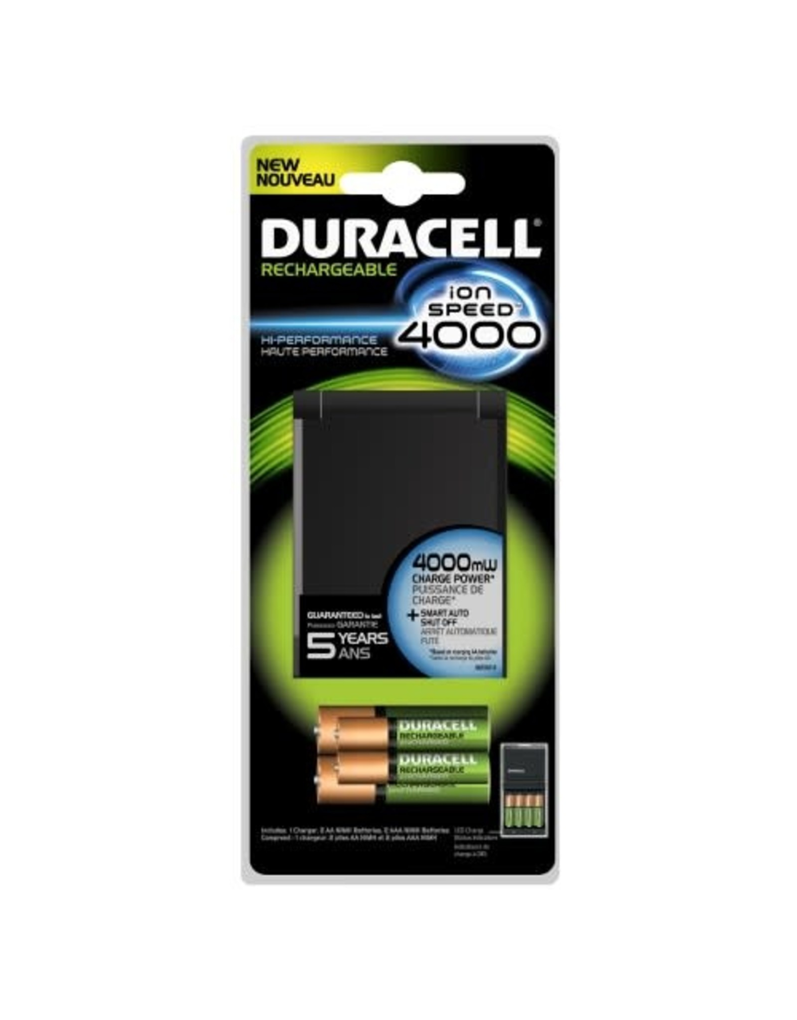 Duracell Duracell Battery Charger Ion Speed 4000 with 2 AA & 2 AAA Batteries