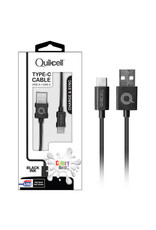 Colour Colour Burst Charge & Sync Micro USB-C Cable Black 3.3ft  SKU:44003