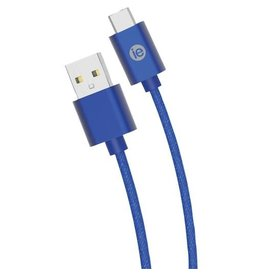 iEssentials iEssentials Charge & Sync Cable USB-C - A Braid 6ft Blue