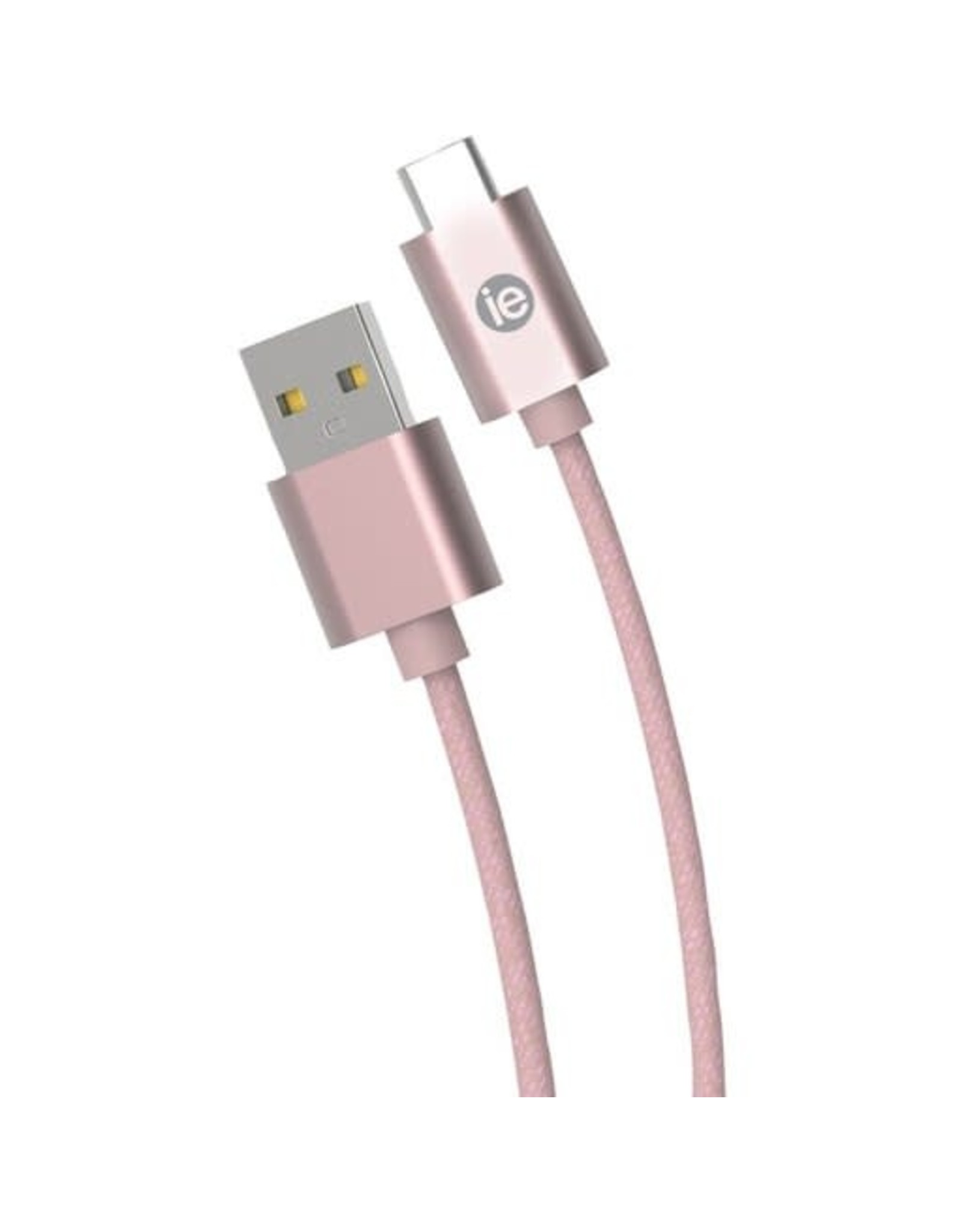 iEssentials iEssentials Charge & Sync Cable USB-C - A Braid 6ft RGld  SKU:49056