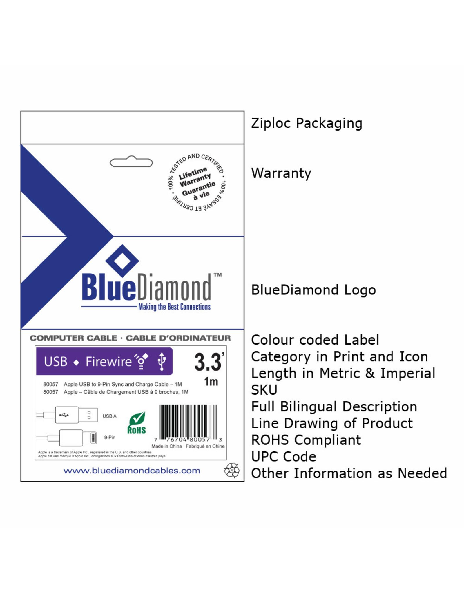 BlueDiamond BlueDiamond CSA Notebook Powercord - BK, 10ft