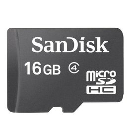 SanDisk SanDisk 16GB MicroSDHC Card with Adapter