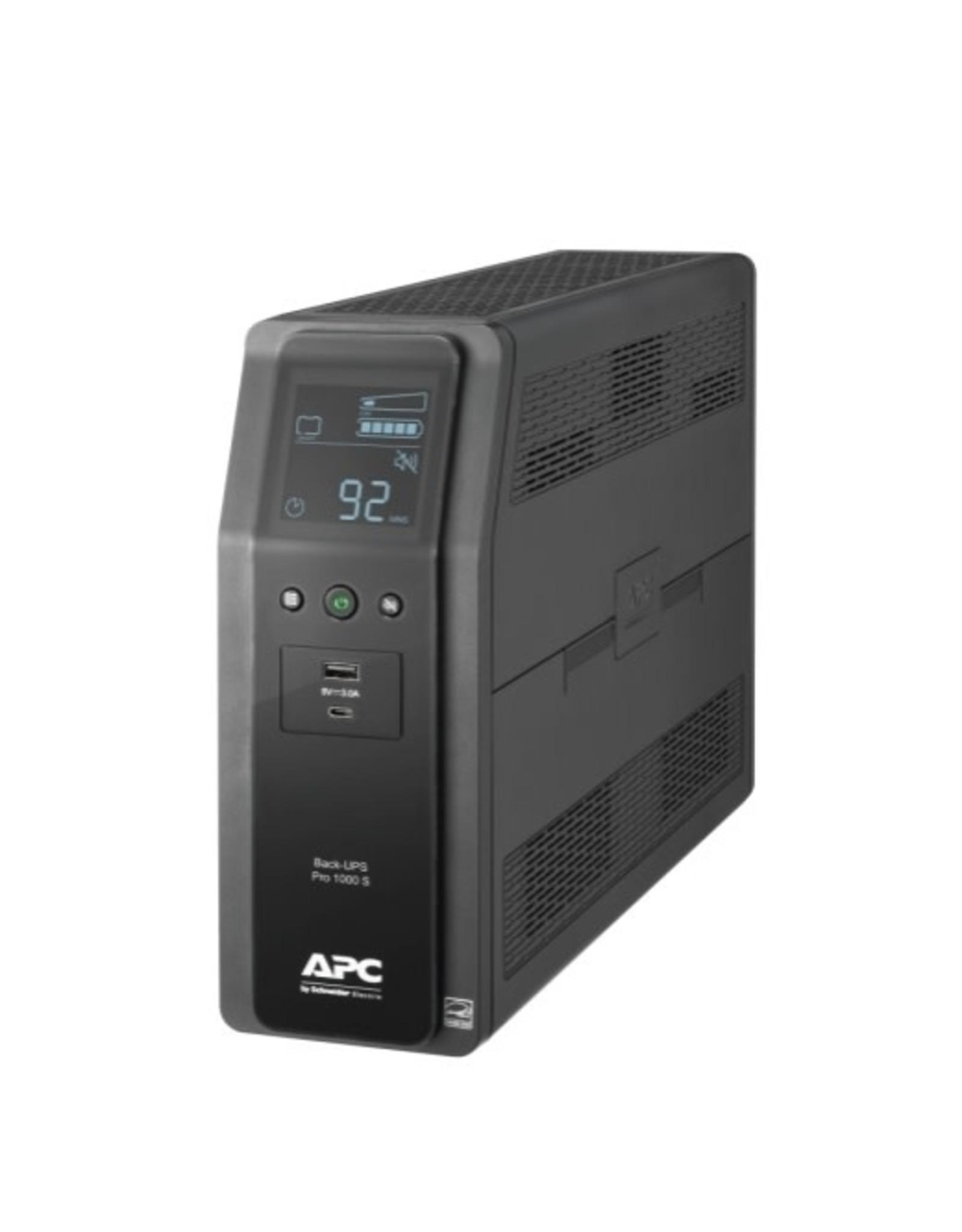 APC APC Back-UPS PRO BR 1000VA, SineWave, 10 Outlets, 2 USB Charging Ports, AVR, LCD interface