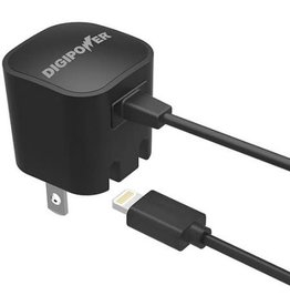 Digipower Digipower Wall Charger 1amp w/Lightning 5ft Connector MFI  SKU:39839