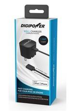Digipower Digipower Wall Charger 1amp w/Lightning 5ft Connector MFI  SKU:39839