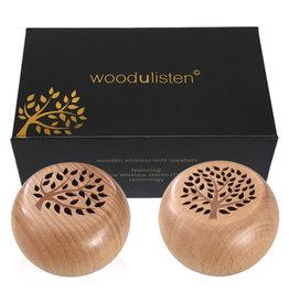 woodulisten woodulisten Bluetooth Speaker Stereo 2-Pack Dark Wood Tone  SKU:48904