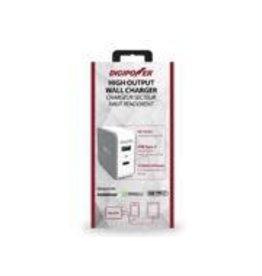 Digipower Digipower Car Charger w/2.4amp USB,Qualcomm 3.0 & Type C 15w  SKU:45631