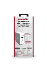 Digipower Digipower Car Charger w/2.4amp USB,Qualcomm 3.0 & Type C 15w  SKU:45631