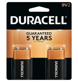 Duracell Canada Inc. Duracell 9V Coppertop Alkaline Batteries 2 Pack