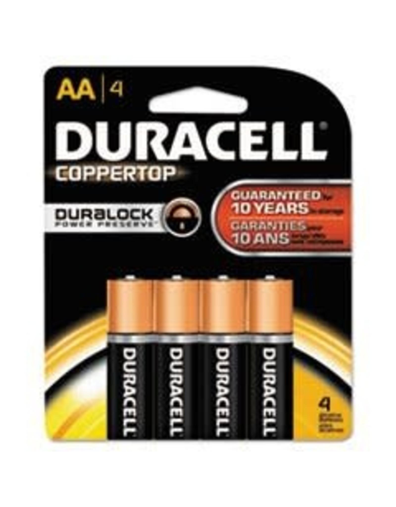 Duracell Duracell AA Coppertop Alkaline Batteries 4 Pack