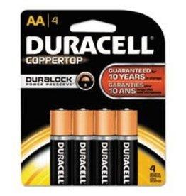 Duracell Canada Inc. Duracell AA Coppertop Alkaline Batteries 4 Pack