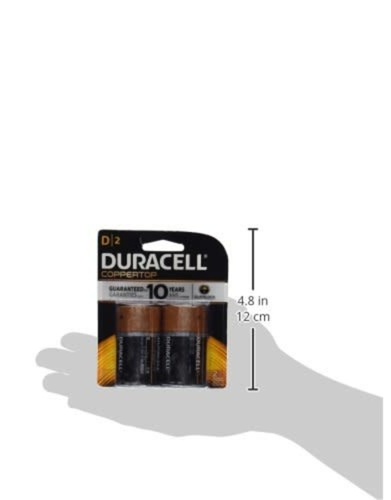 Duracell Duracell D Coppertop Alkaline Batteries 2 Pack