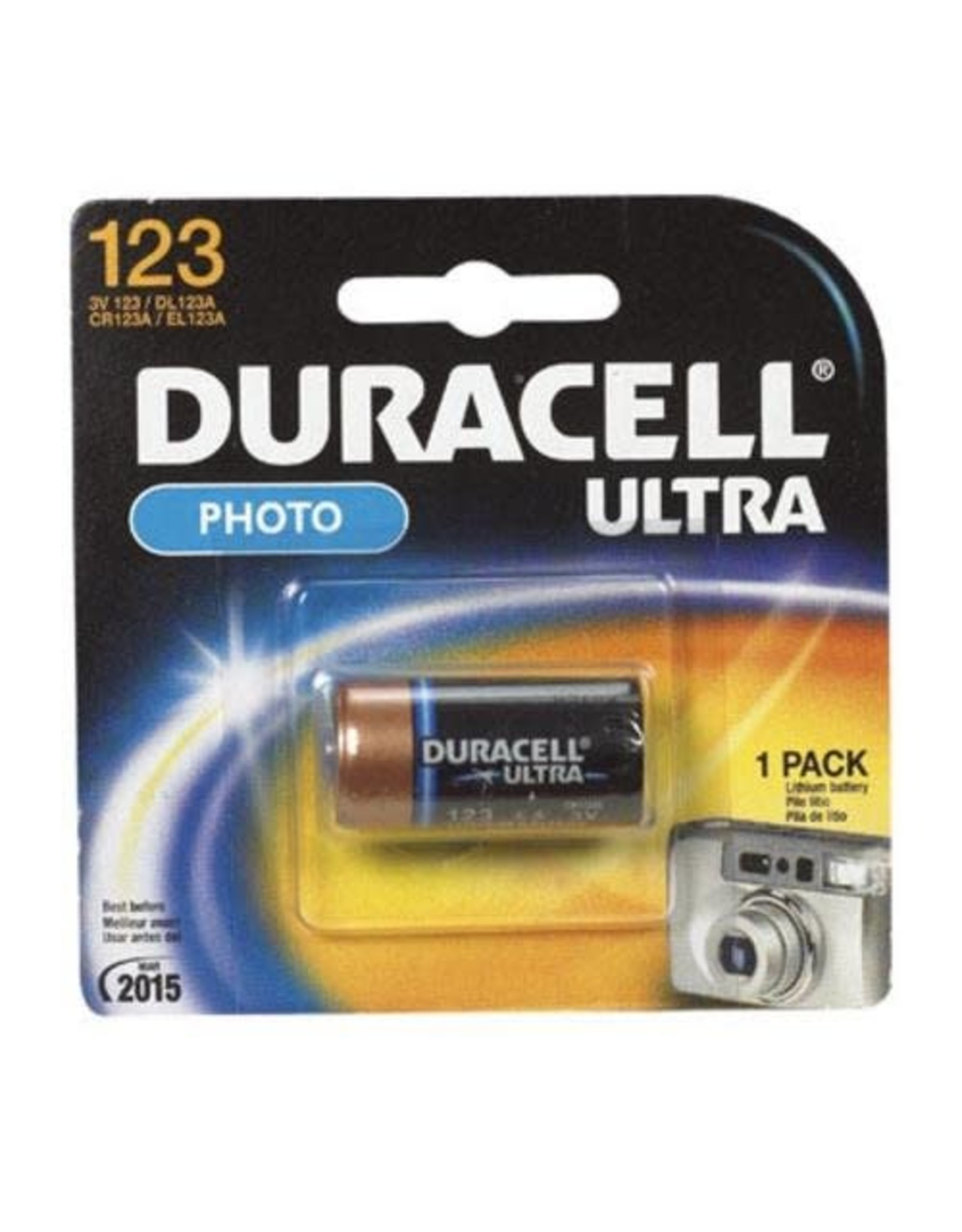 Duracell Canada Inc. Duracell DL123 3V Lithium Photo Battery 1 Pack