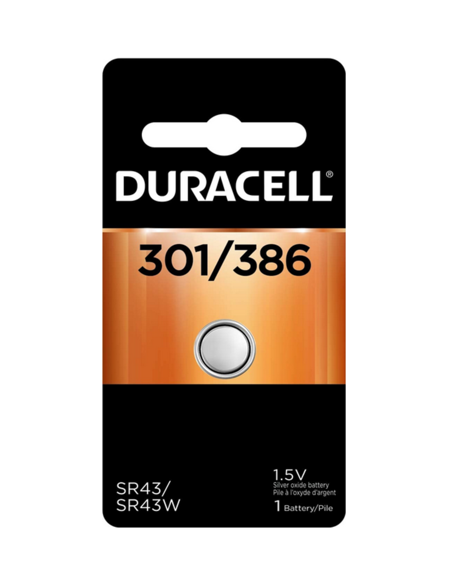 Duracell Canada Inc. Duracell 301/386B 1.5V Silver Oxide Button Battery 1/pack