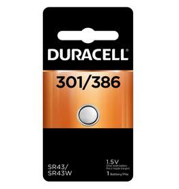 Duracell Duracell 301/386B 1.5V Silver Oxide Button Battery 1/pack