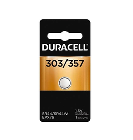Duracell Canada Inc. Duracell 357/303 1.5V Silver Oxide Button Battery 1/pack