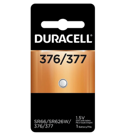 Duracell Canada Inc. Duracell 376/377 1.5V Silver Oxide Button Battery 1/pack