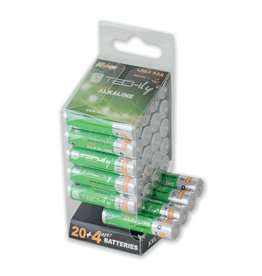 Techly Techly AAA Super Alkaline Batteries, 24 Pack