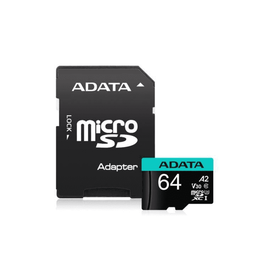 Adata Technology Adata Technology 64GB MicroSDXC UHS-I U3 V30S A2 with Adapter