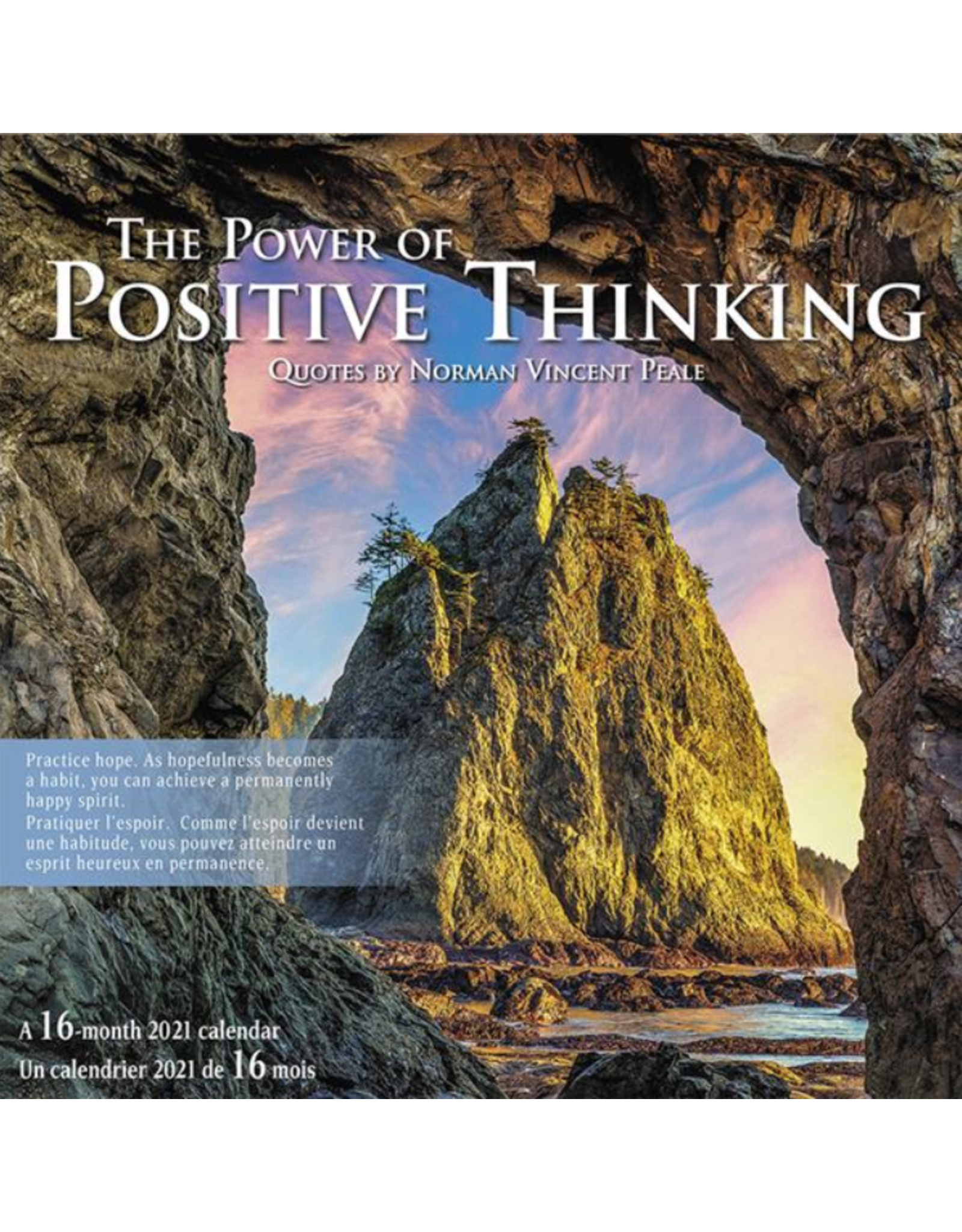 Hilroy CALENDAR-WALL MONTHLY 12X12 POWER OF POSITIVE THINKING  2021