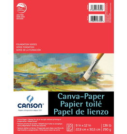 Canson CANVAS PAPER PAD-9X12, FOUNDATION CANVA-PAPER, 10 SHEET