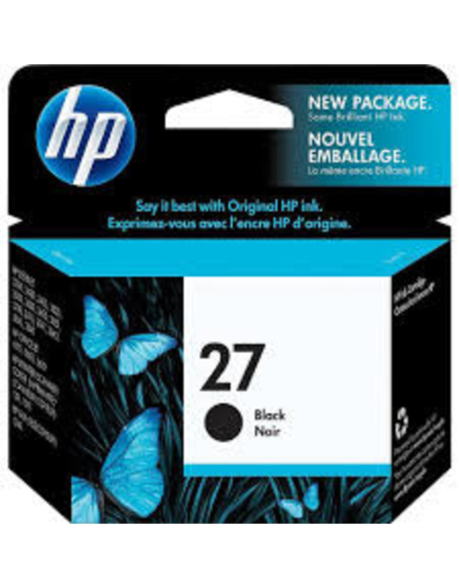 CARTRIDGE, HP 27 BLACK